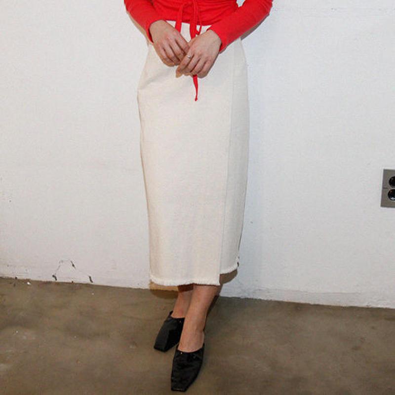 canvas cotton rap skirt