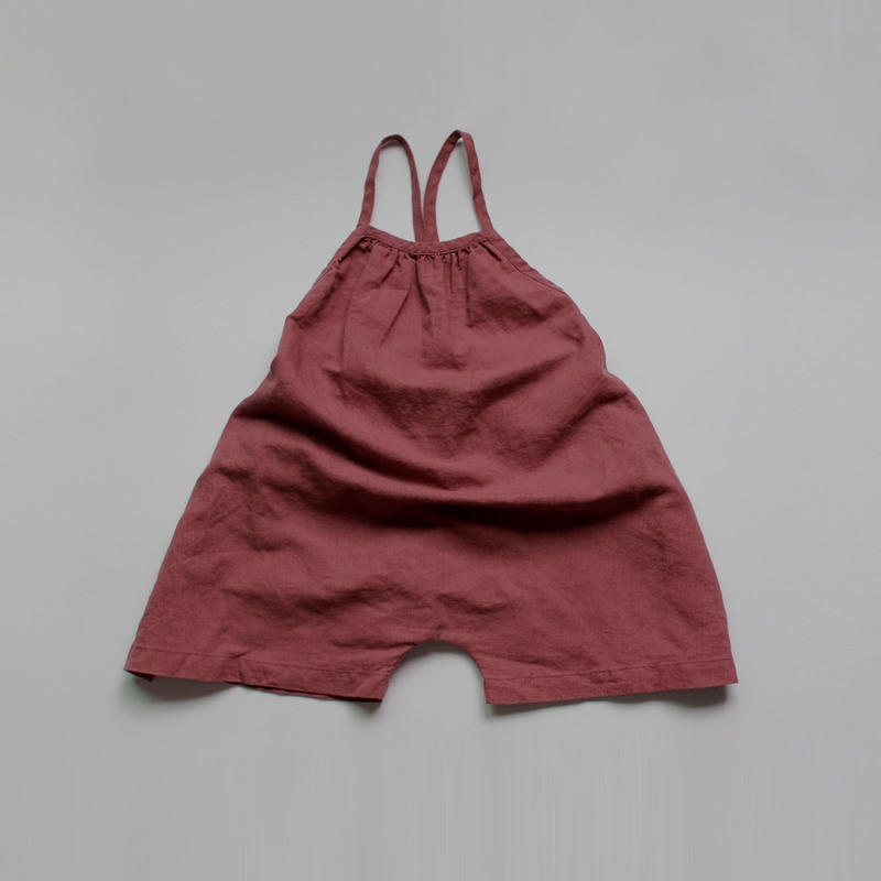 ■for baby■linen volume salopette pants