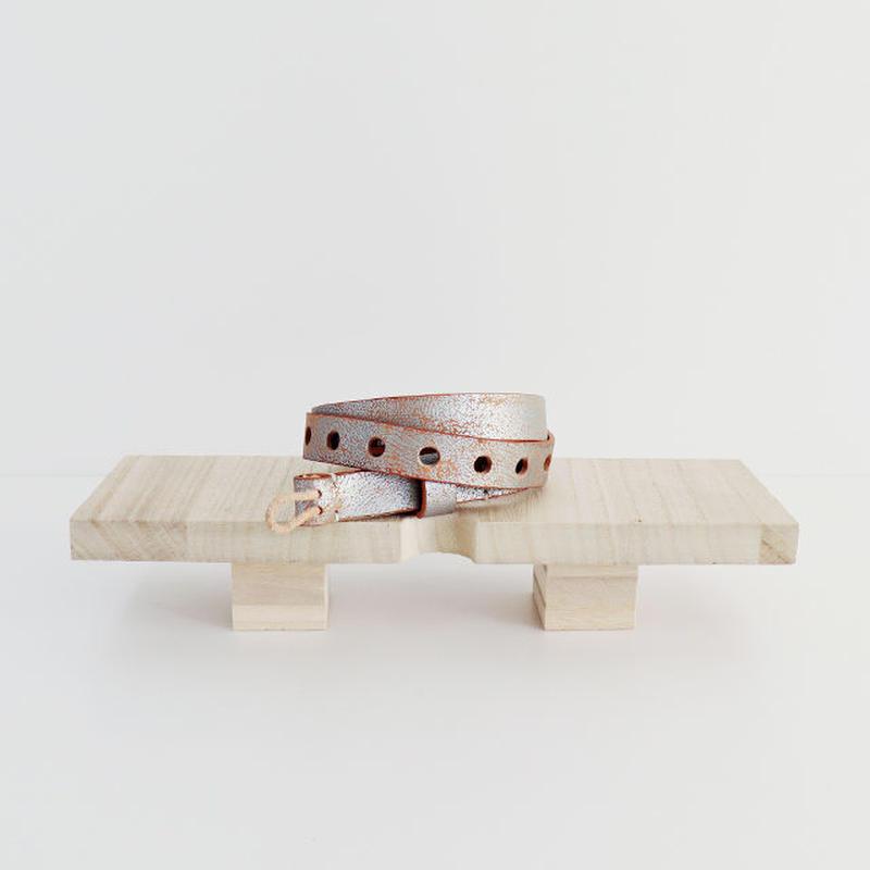 / TULIP EN MENSEN / loop belt [ silver ]
