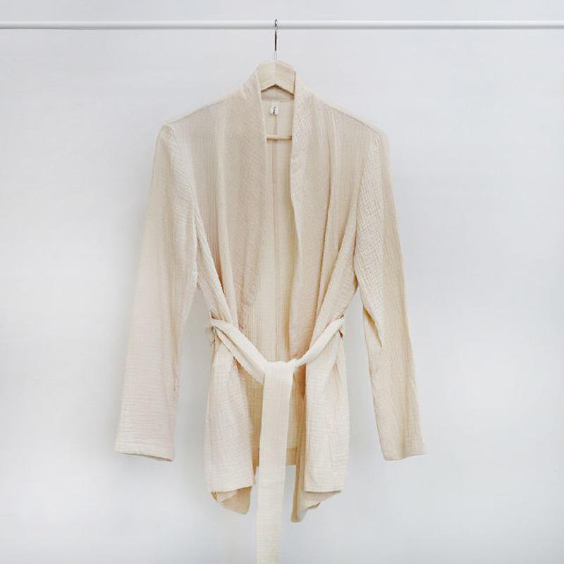 [ sample SALE ] cotton gauze robe jacket