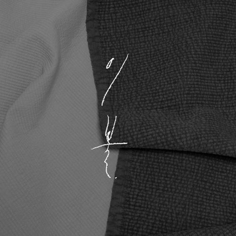 [ korean i-bul ] stripe quilting blanket -single size-