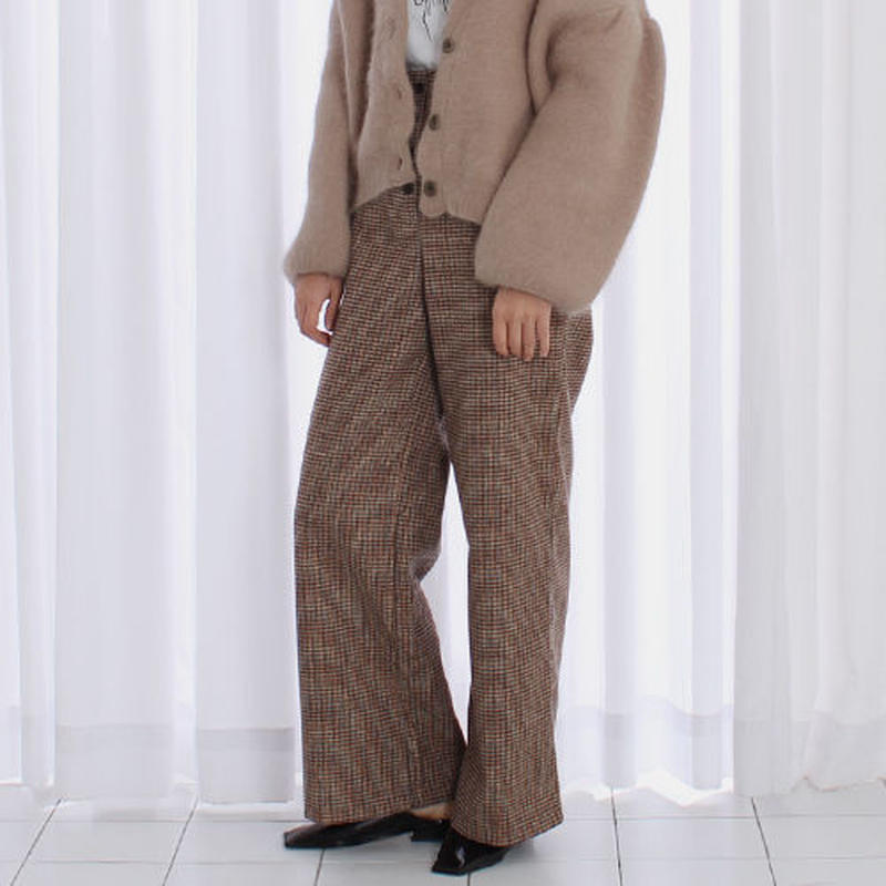 high waist classic check pants