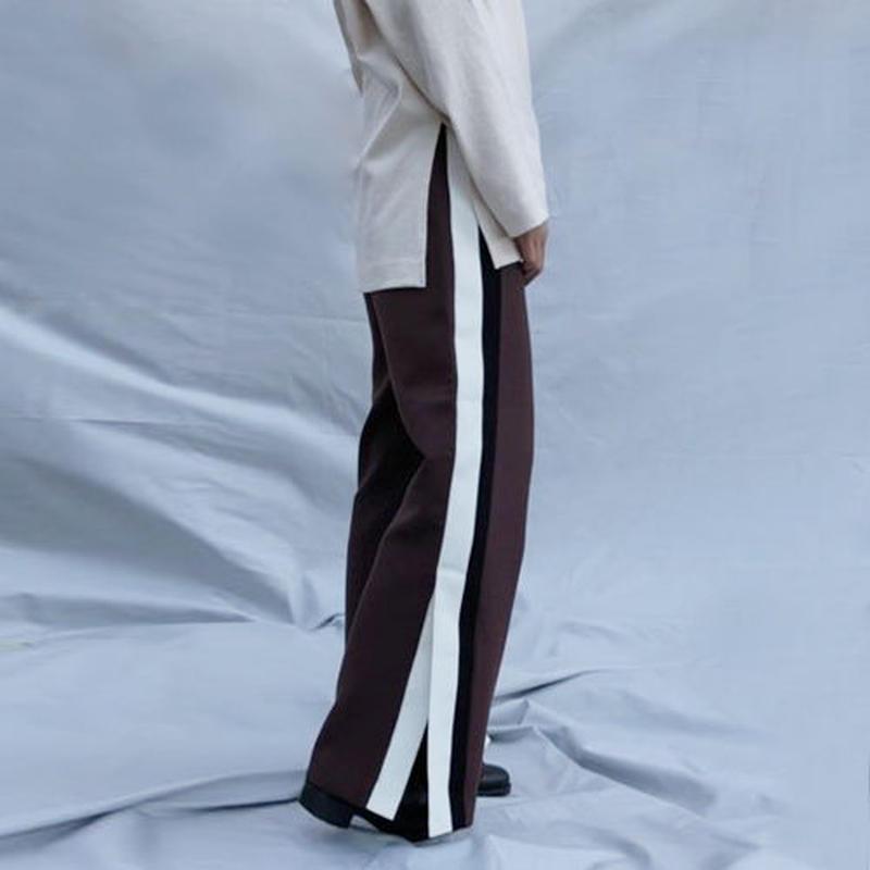 -2 colors- side slit line pants