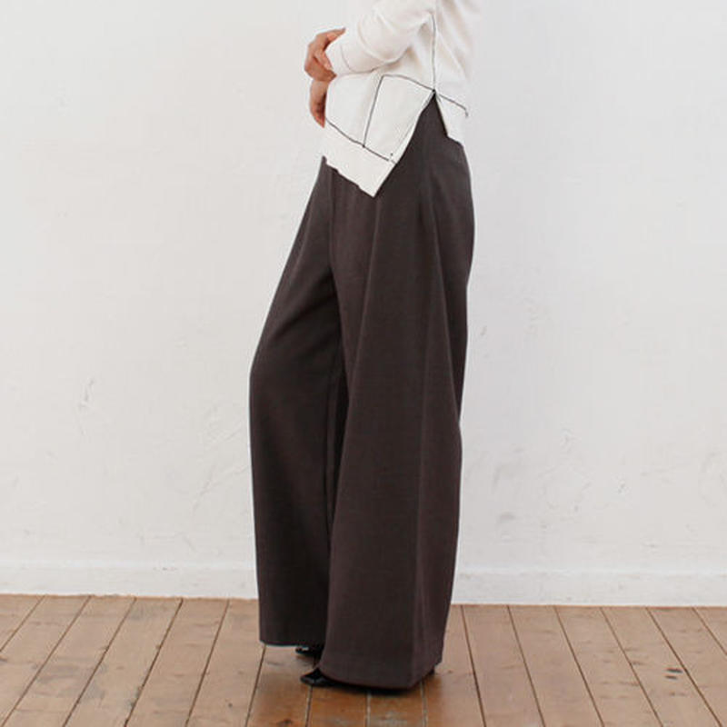 wide silhouette dress pants