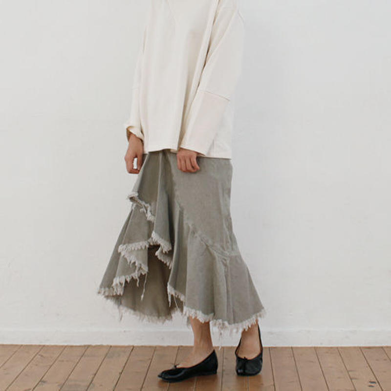 crushed frill skirt