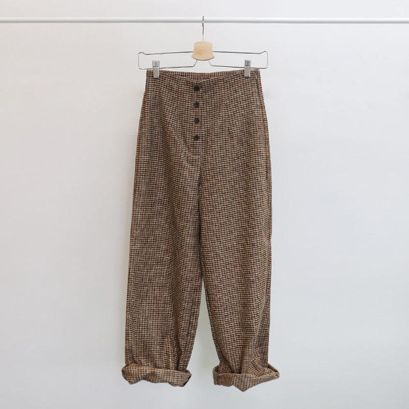 [ sample SALE ] high waist classic check pants