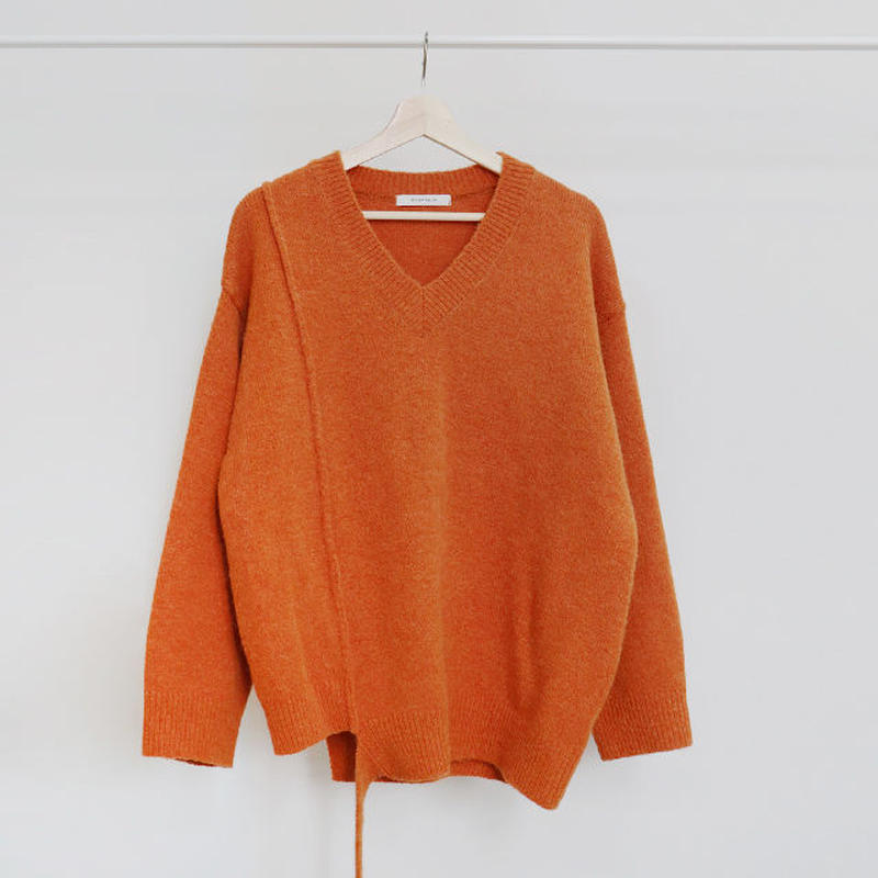 [ sample SALE ] V-neck tale knit