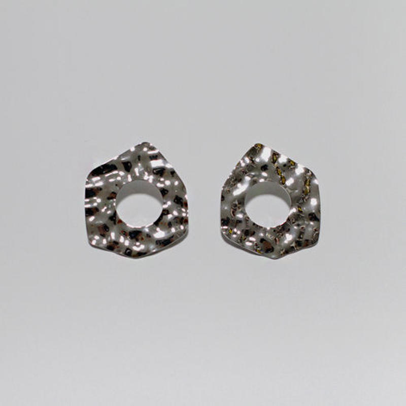 awameki motif pierced earrings