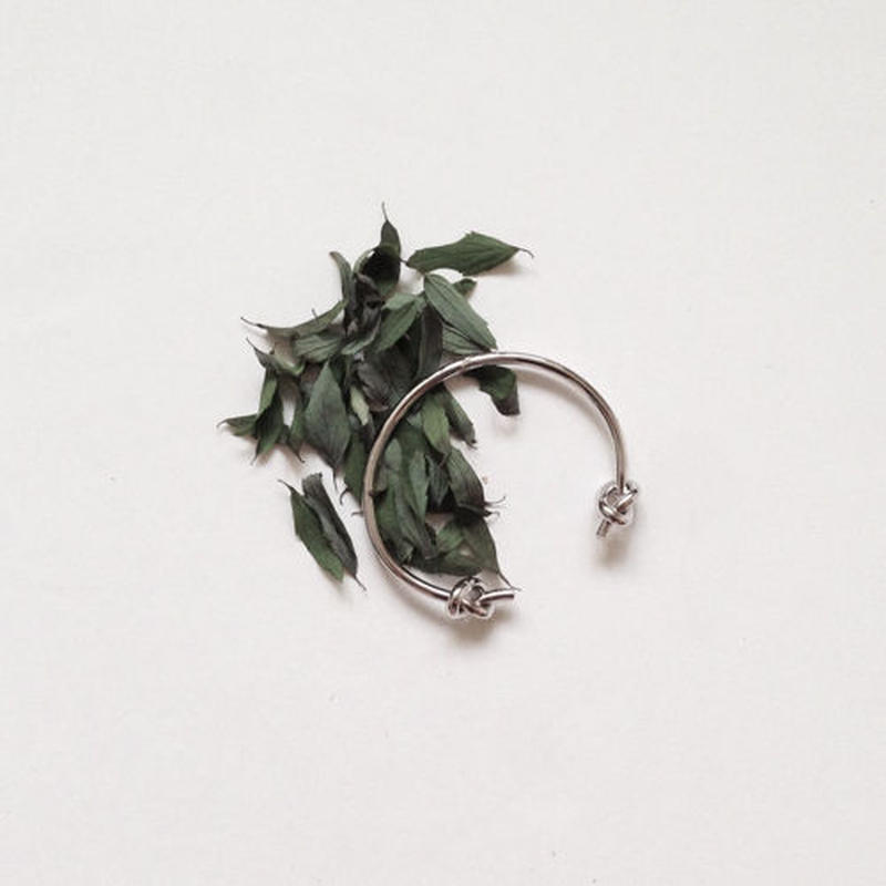 double knot silver bangle