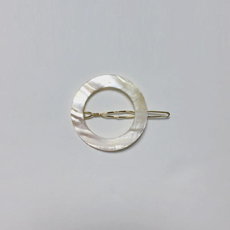 circle shell hairclip