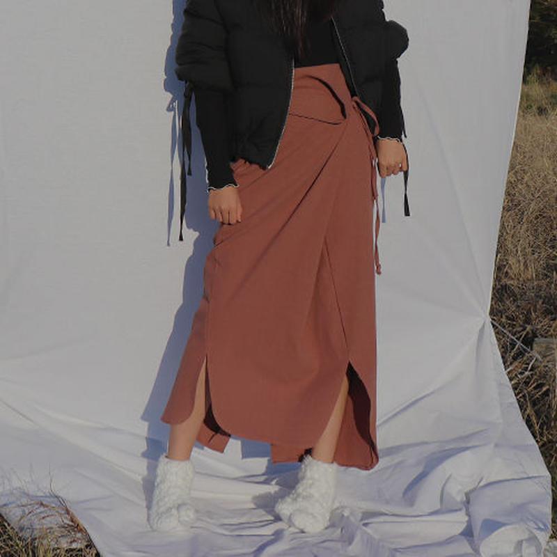 -2 colors- side slit flexible skirt