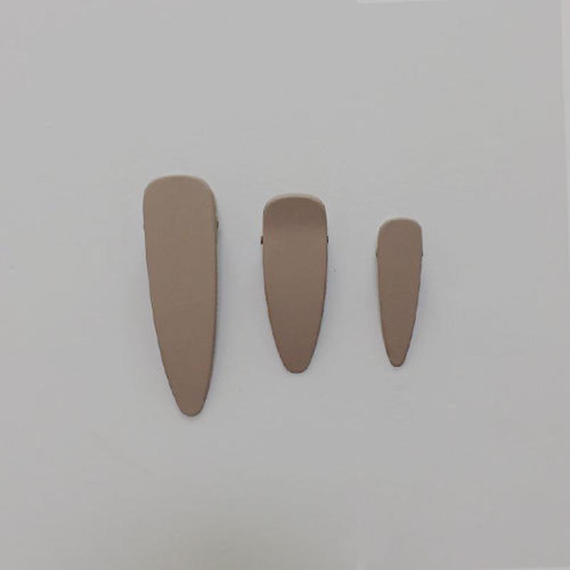 rosy brown mat color hairclip -3pcs set-