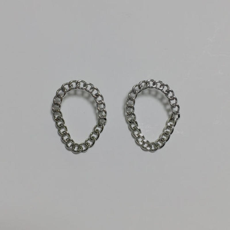 circle chain pierced earrings