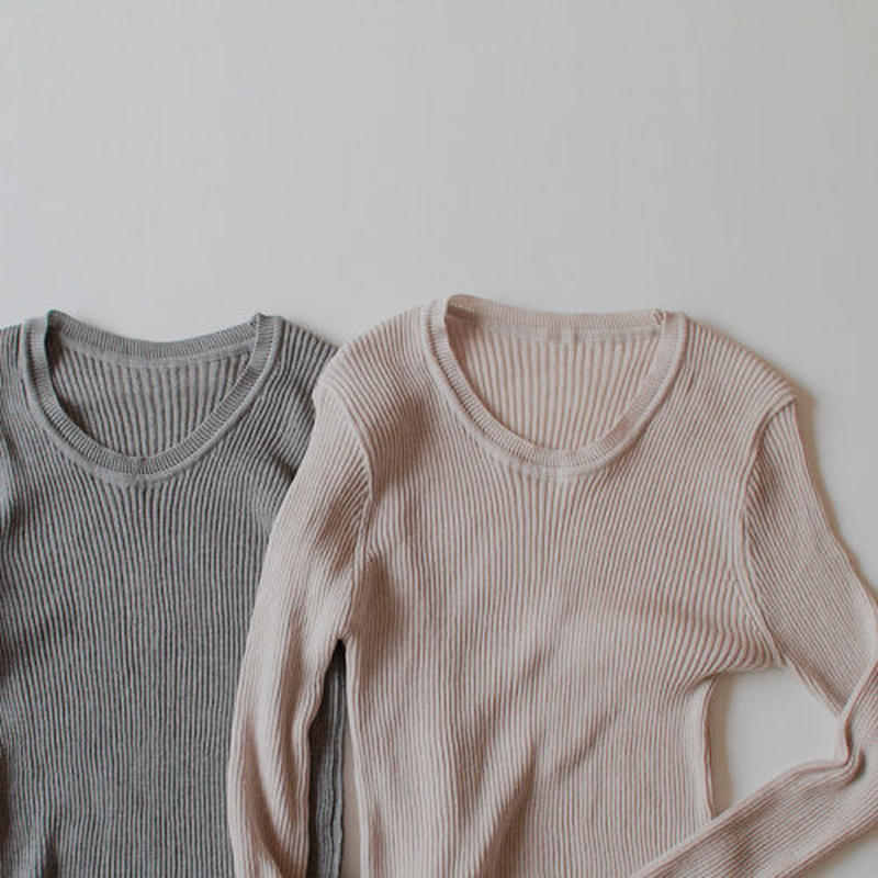 -2 colors- sensitive basic knit