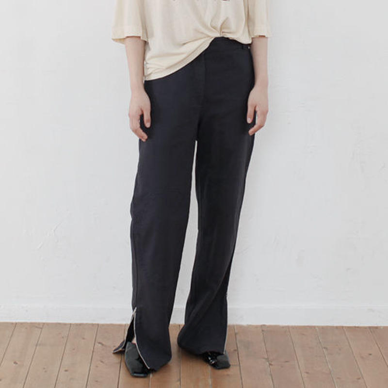 side zip stitch pointed pants