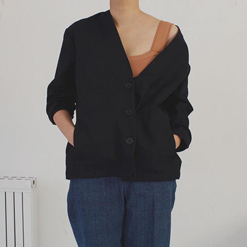 canvas cardigan jacket