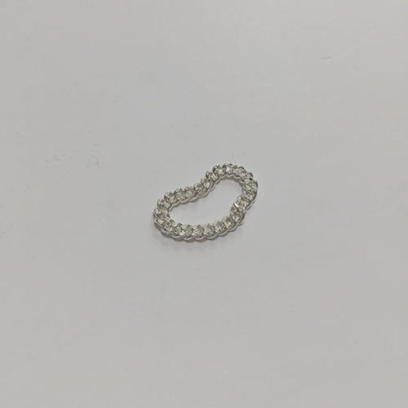 -silver 925- flexible chain ring