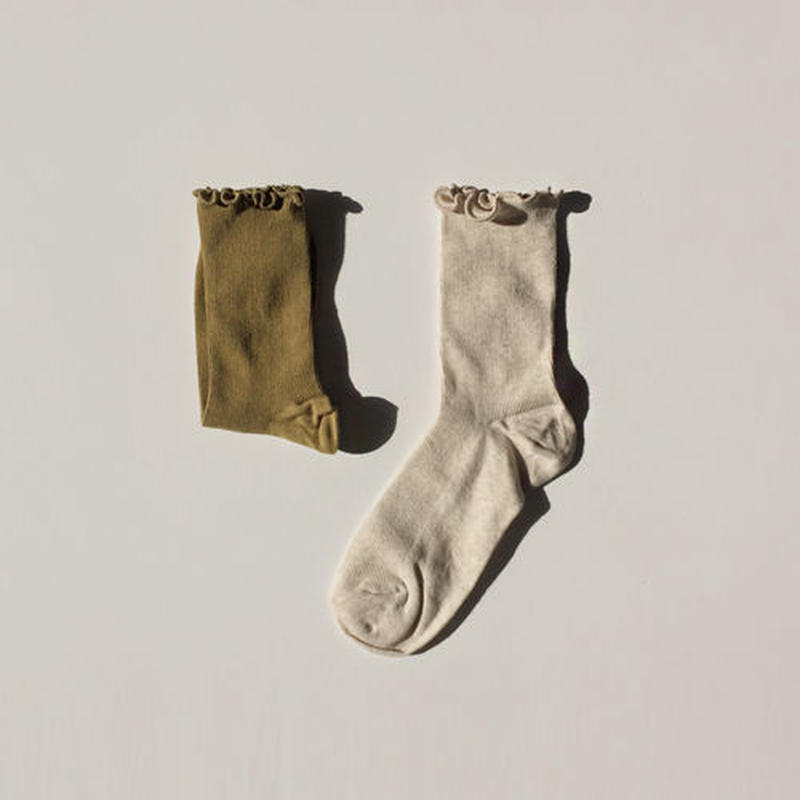 frill pointd aurumn socks