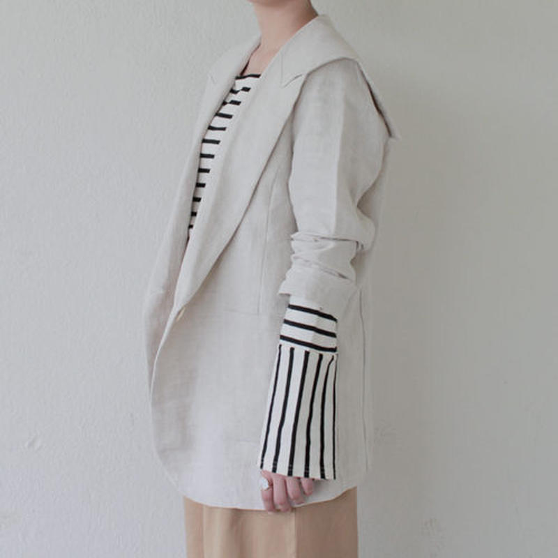 sailor collar linen jacket