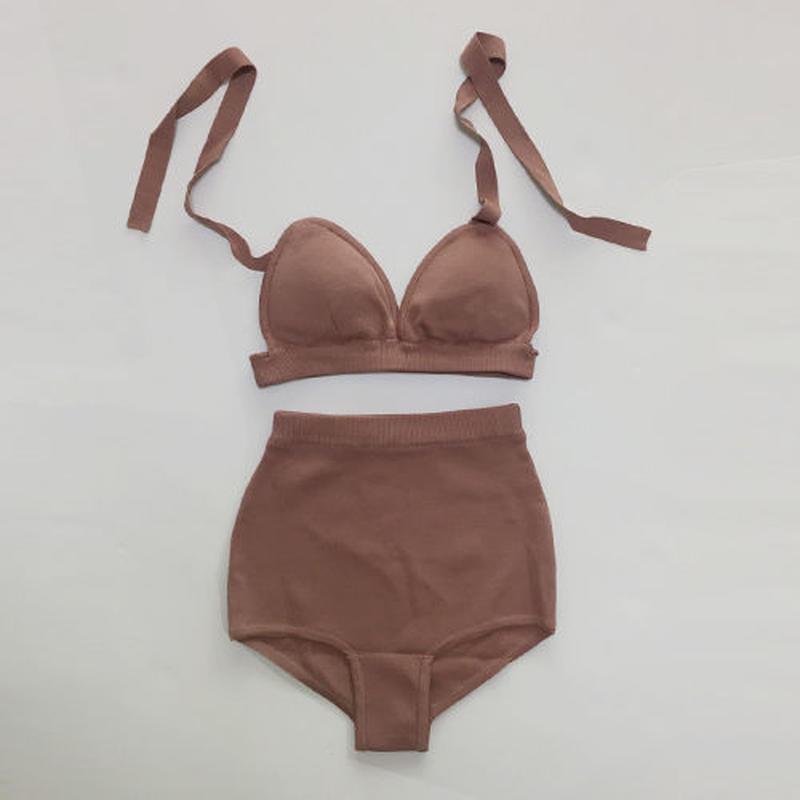 -2 colors- cozy knit bikini