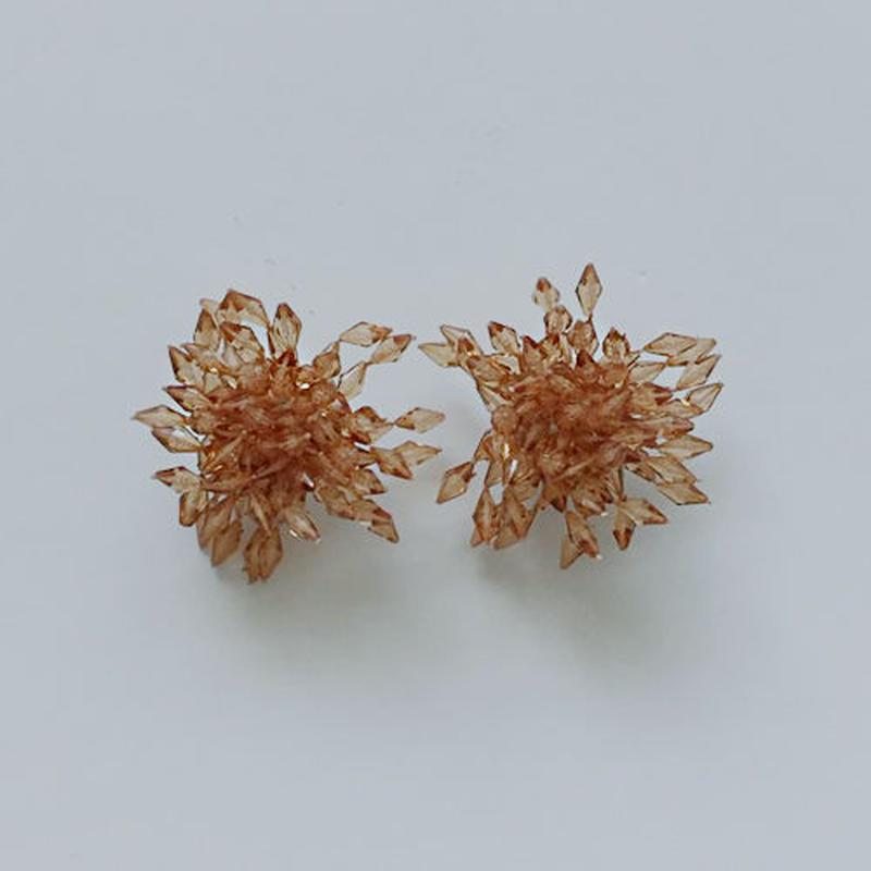 flower beads pierced earrings