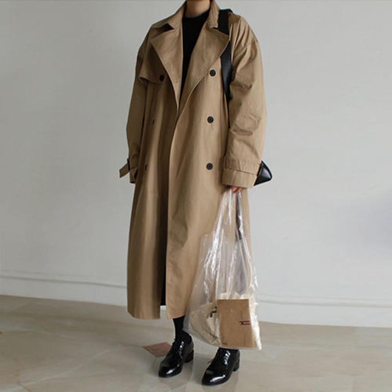 back gather trenck coat
