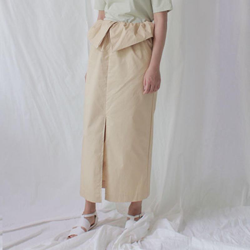 -2colors- waist hem easy work skirt