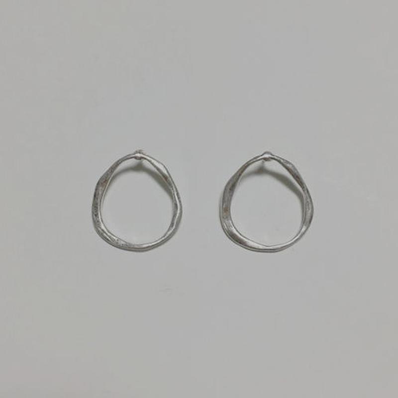 craft round pierced earrings