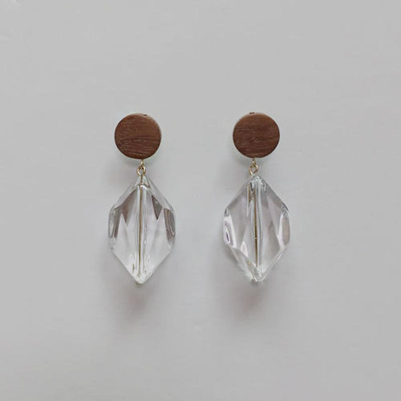 clear drop pierced earrings