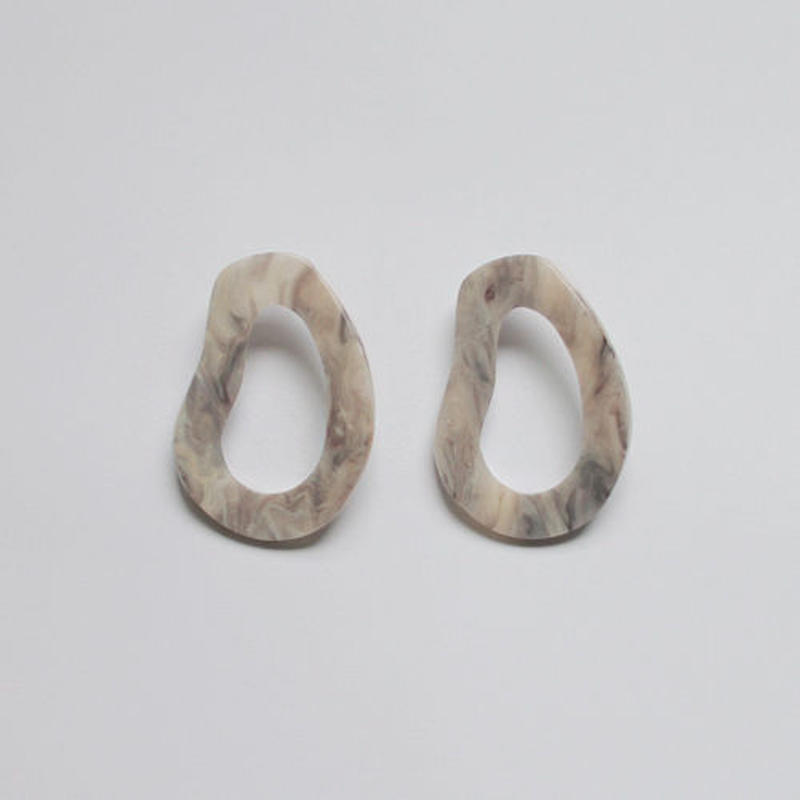 -2 colors- marble image pierced earrings