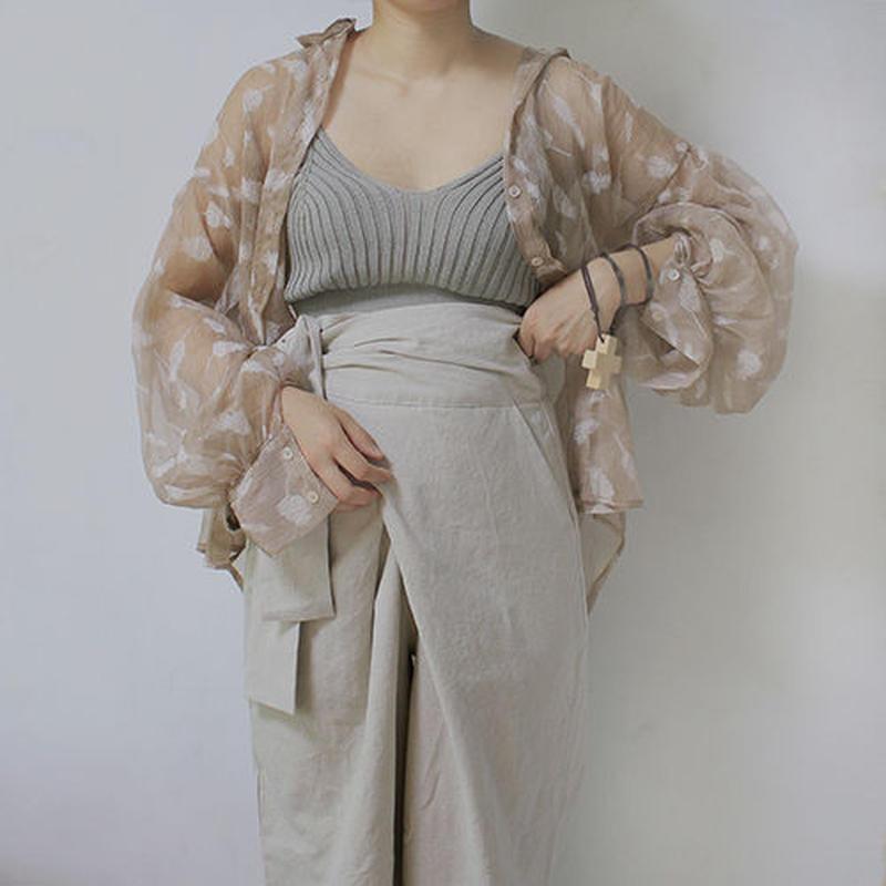 feather pt chiffon blouse