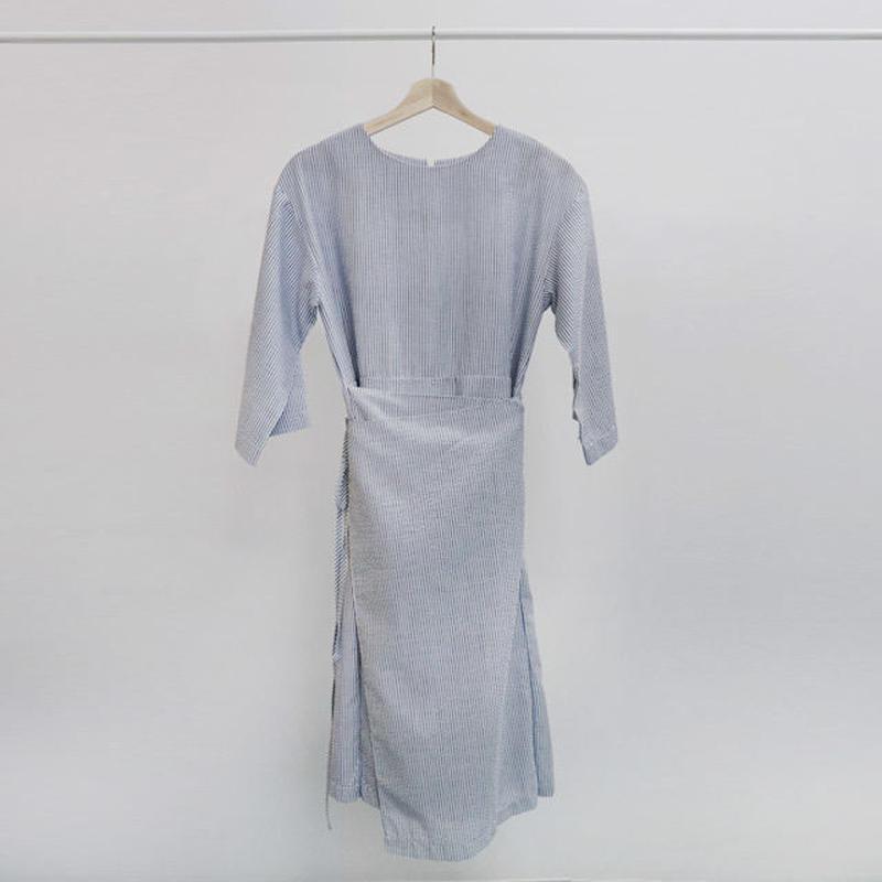 [ sample SALE ] stripe rap dress