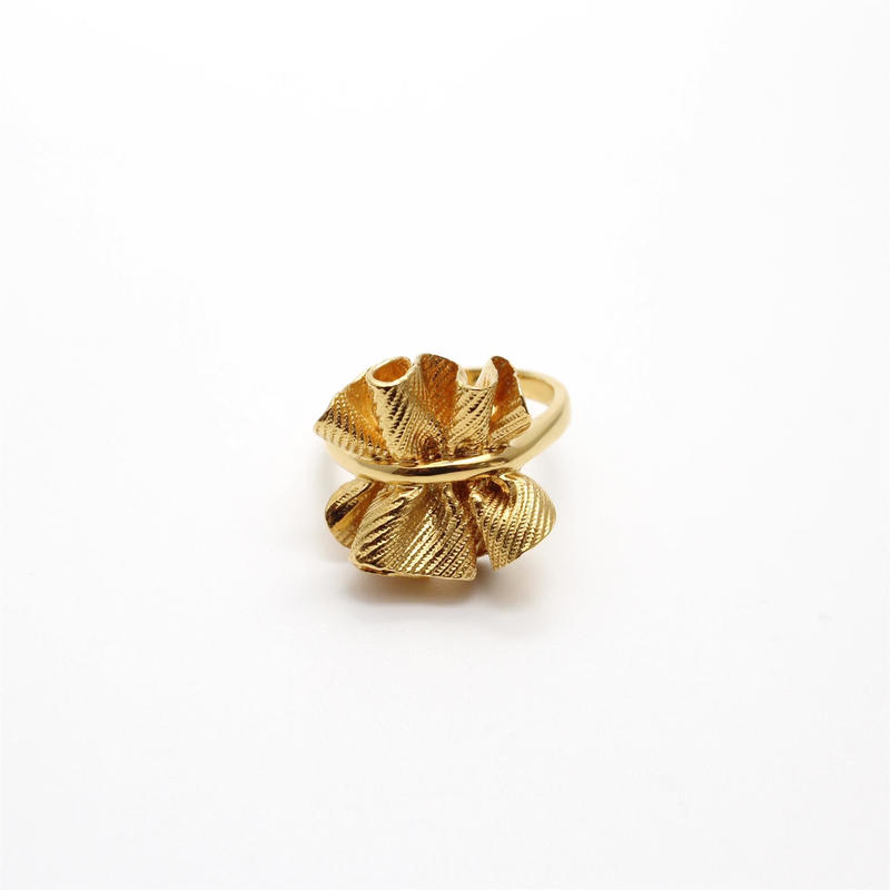 wrinkle series ring(pinch)  GD