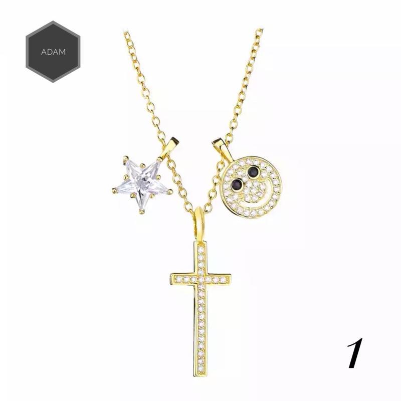 Happy crystal necklace