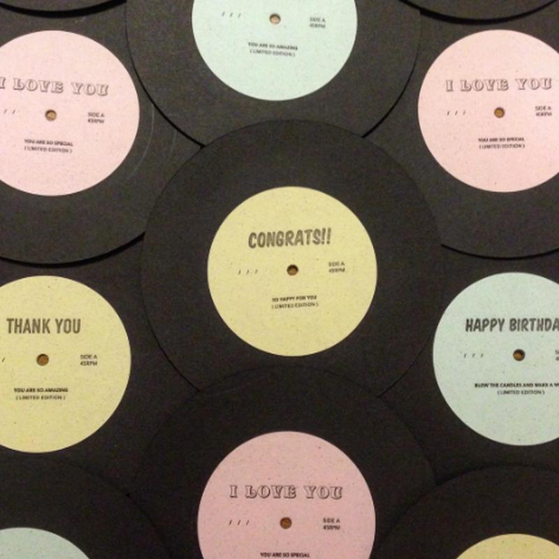 7 Inch Greeting Disk(7インチレコード型グリーティングカード)