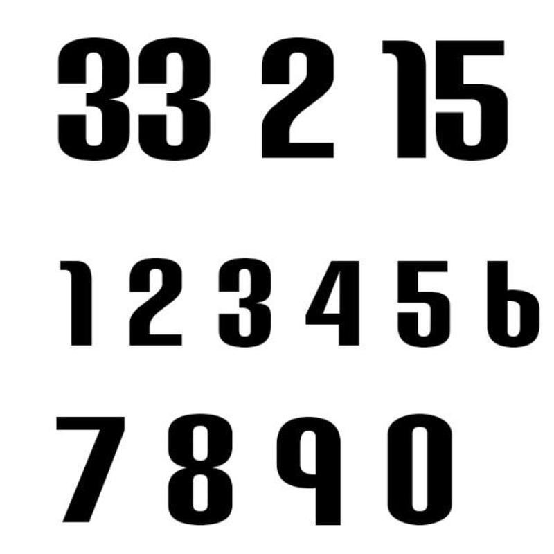 ナンバー2(Mサイズ)/ブラック