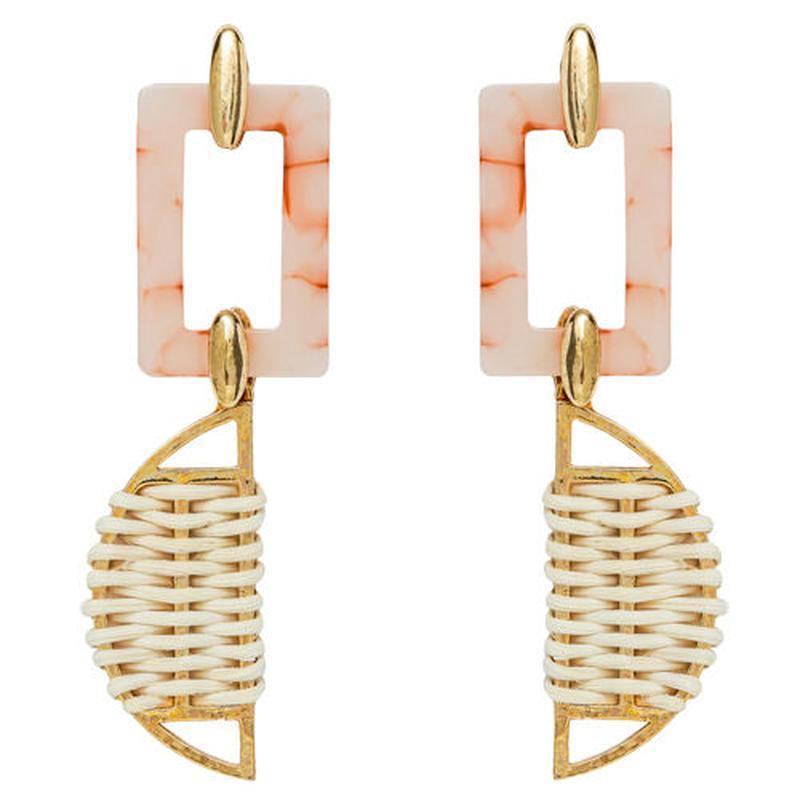 SAFARI rattan earring