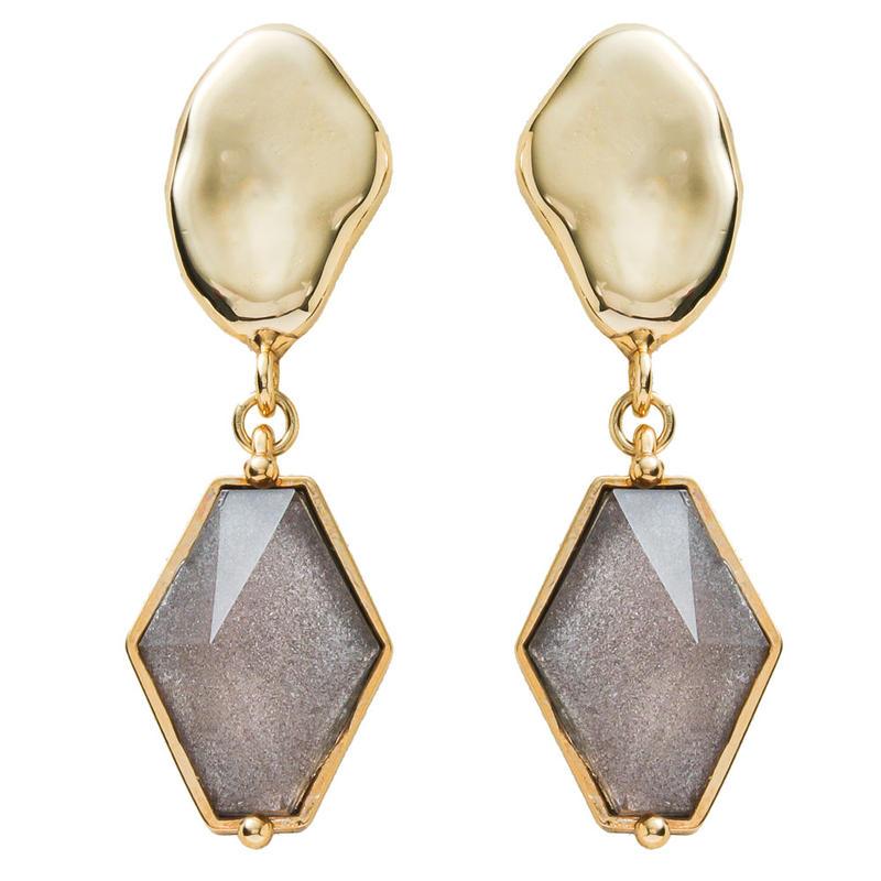 VITRAIL diamond pierce/earring(gold)