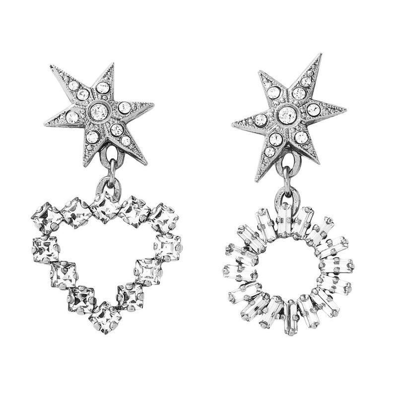 SPARKLE star pierce/earring (silver)