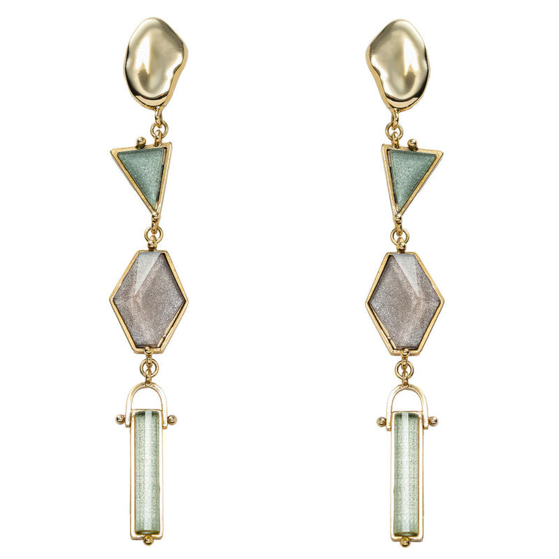 VITRAIL long pierce/earring(gold)