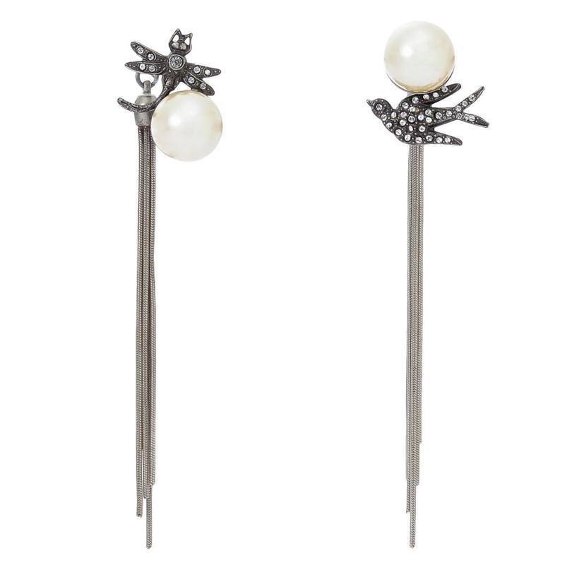 FANTASIE pearl fringe 2way pierce