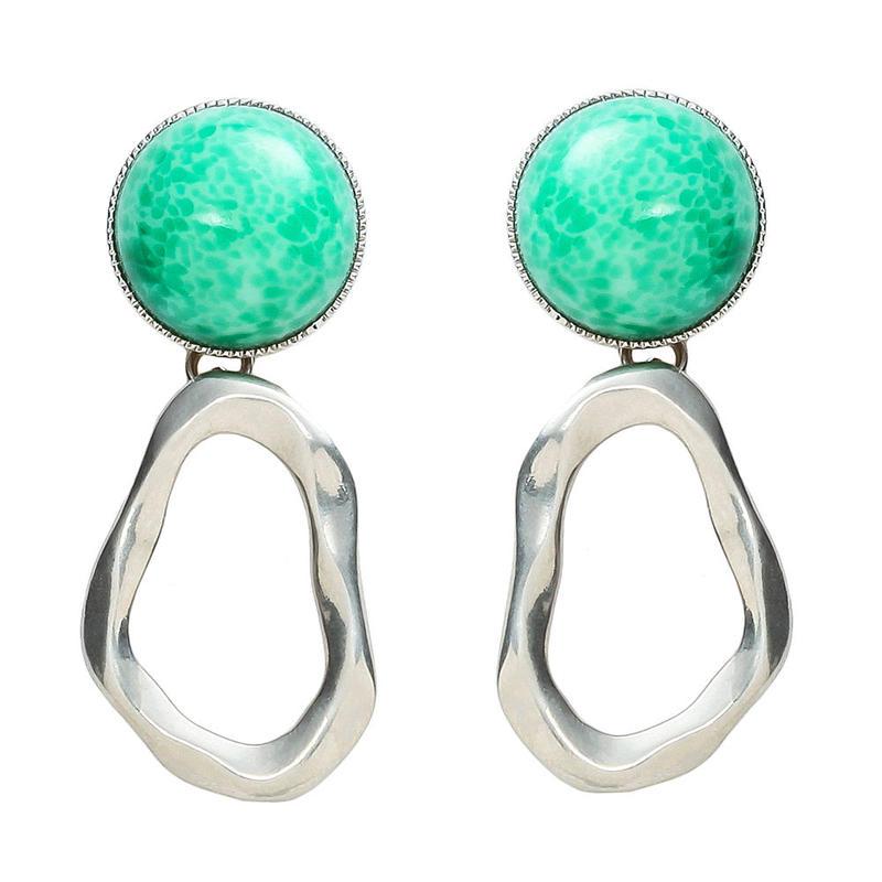 COSMO stone pierce/earring (silver)