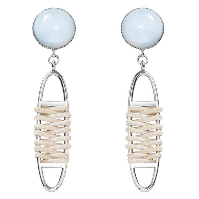 FRAGMENT rattan pierce/earring(silver)