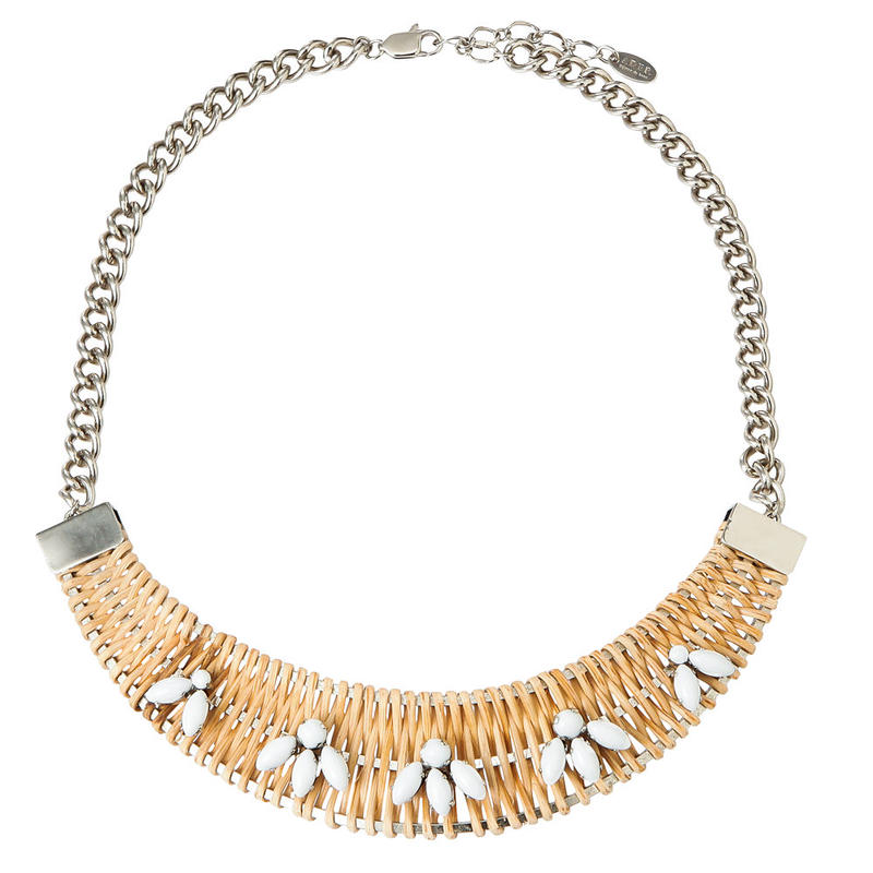 TROPIC rattan necklace