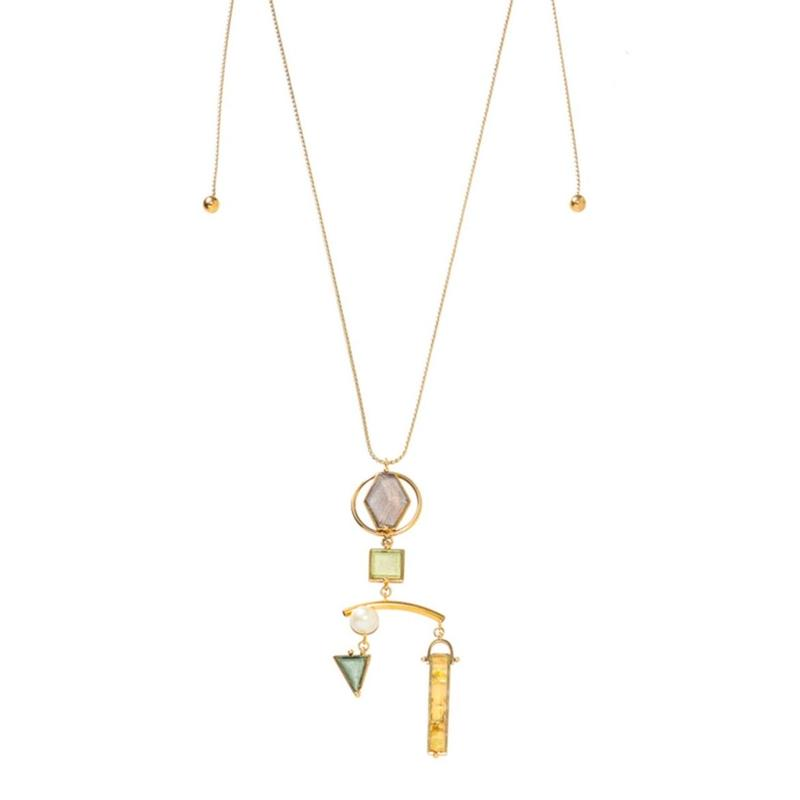 VITRAIL mobile pendant(gold/silver)