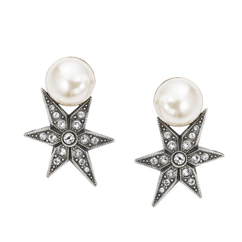 STAR pearl pierce/earring