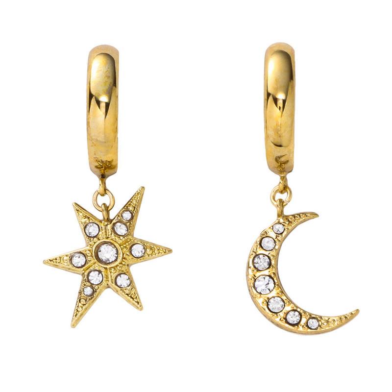 MOON&STAR hoop pierce/earring (gold)