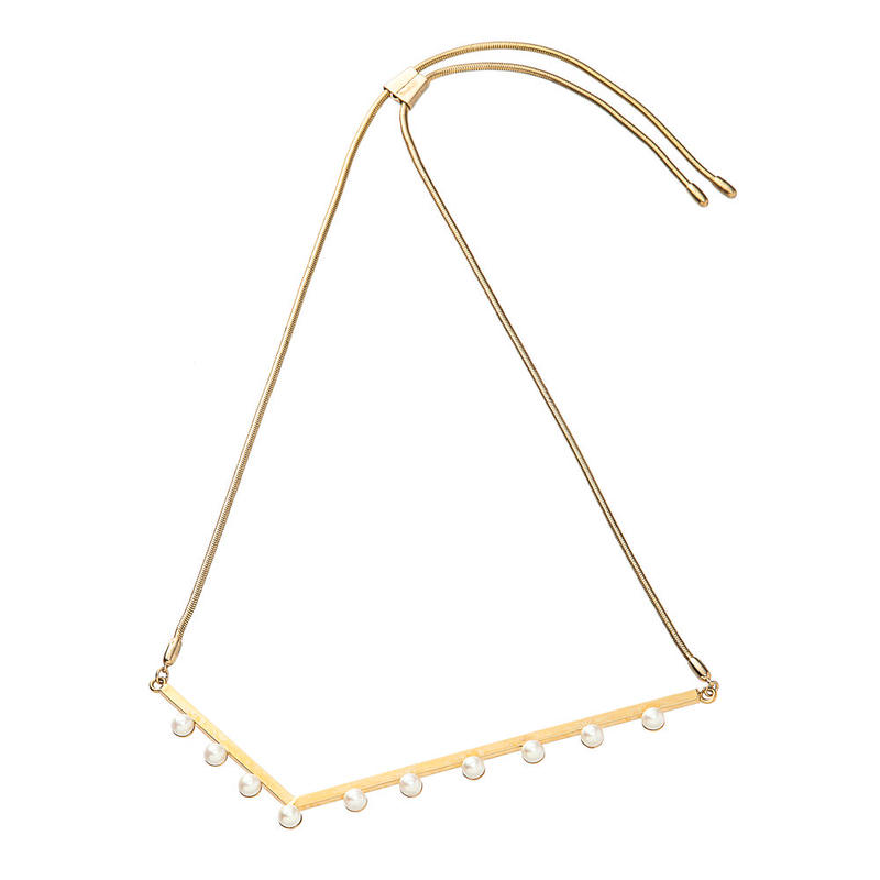 LAYER adjaster necklace (gold)