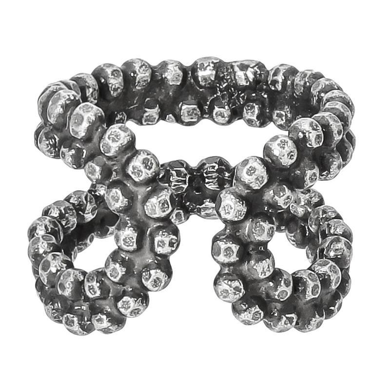 CUT STEEL ring