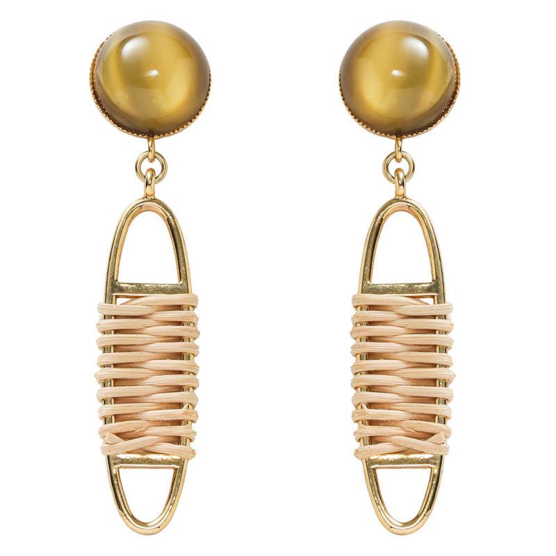 FRAGMENT rattan pierce/earring(gold)